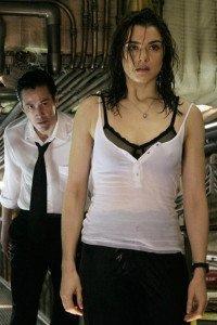 A dazed Angela Dodson portrayed by  Rachel Weisz.