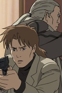 Section Nine operatives Batou and Togusa from the series Ghost in the Shell: Stand Alone Complex.
