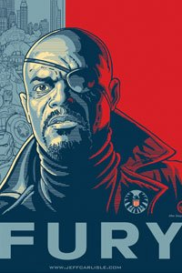 Nick Fury in iconic two-tone style. An original image, not taken from an AP photograph.