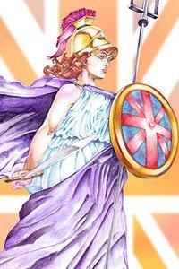 Jason Banditt Adams' Lady Britannia stands majestically.
