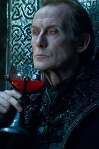 Underworld 3's Bill Nighy as Viktor, enjoying an aperitif.