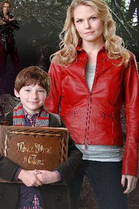 Jared Gilmore as Henry Mills and Jennifer Morrison as Emma Swan.